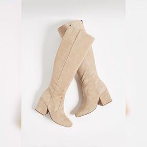 Sam Edelman Beige Thora Knee High Riding Boots 8.5